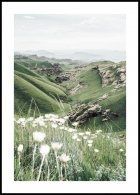 Mountain Valley in Bloom Poster