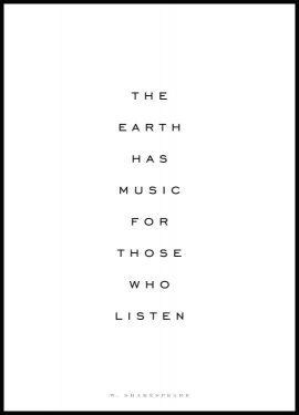 The Earth Has Music Poster