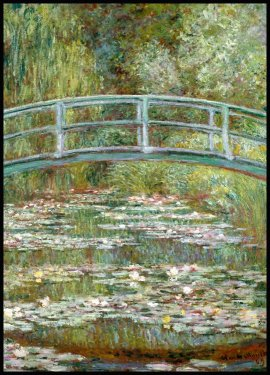 Claude Monet Bridge Over a Pond Poster