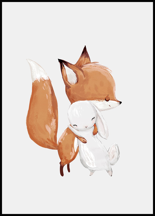Fox and Rabbit Poster