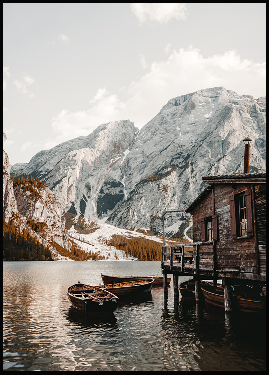 Braies Boathouse Poster