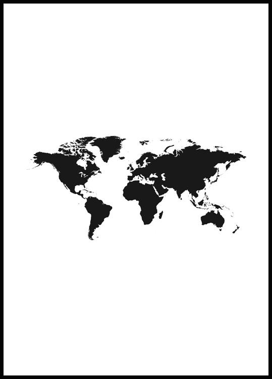 World Map 2 Poster
