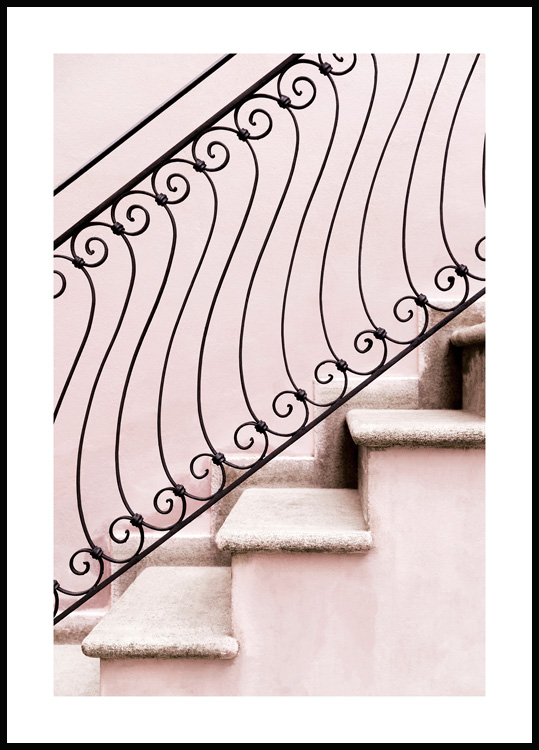 Swirly Steps Poster
